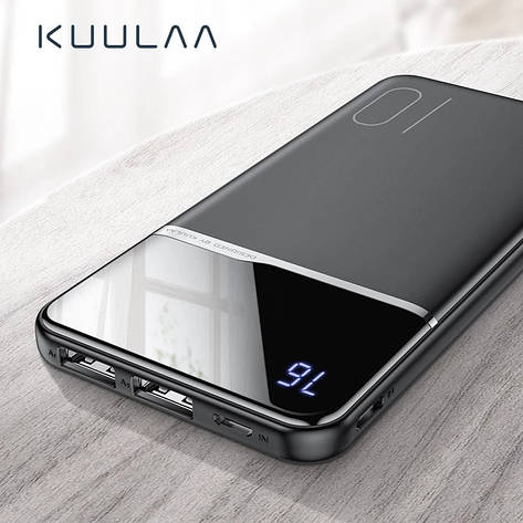 Оригинальный Power Bank KUULAA 10000 мАч с LED индикацией Black, фото 2