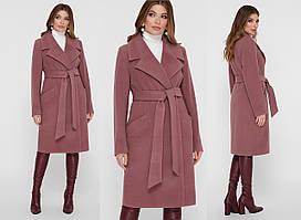 Демисезонное двубортное женское пальто  GL-ПМ-125