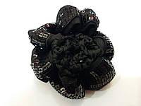 Резинка для гульки с пайетками чёрная