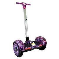 """Мини-сигвей c ручкой Smart Balance Wheel A8 """"Фиолетовый космос"""" 10.5"""