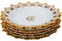 Набор 6 десертных тарелок фарфор d20 см Белый ST Золотая Лилия