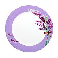 Набор тарелок d 23см 6 шт фарфор Лаванда