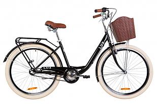 """Велосипед 26"""" Dorozhnik LUX планет. 2020 (черный)"""