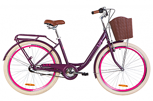 "Велосипед 26"" Dorozhnik LUX планет. 2020 (сливовый (м))"