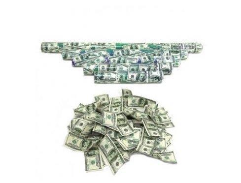 """Хлопушка пневм. 0894-50-2 """"Доллар"""" 50см. наполнение - 200 купюр (100), фото 2"""