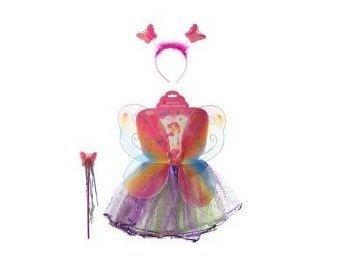Крылья карнавальные бабочка 40х42см., юбка 28см., обруч, палочка, в кул. 56х40х2см. 6215 (50)