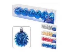 Елочные игрушки ракушка в кор. 6х4х5см. 6шт. 8660 (6/1056)