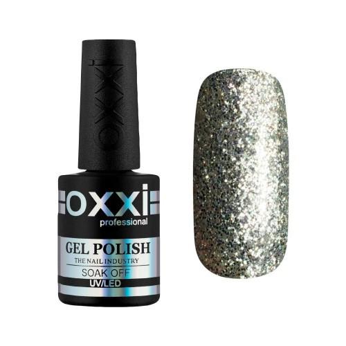 Гель-лак Oxxi Professional №95 насыщенные серебристые блестки, 10 мл
