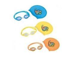 Набор для плавания Bestway очки + шапочка 20х17,5см., 3-6 лет, в чехле 17х6х5см. 26026 (24)