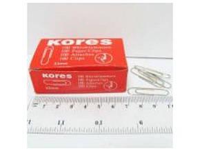 Скрепки Kores 33мм/100шт. никел. карт. кор. 8346-33 (11984-33) (10/500)