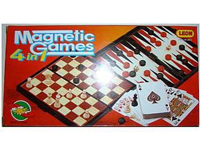 Шахматы магнитные 4в1 в кор. 25х13х3,5см. 9841 (48)