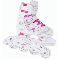 Tempish Детские раздвижные роликовые/ледовые коньки 2 в 1 ролики Neo-X Lady Duo Kids Inline Skates