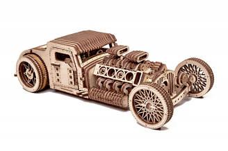 Хот Род - автомобіль родстер Дерев'яний 3D пазл Wood Trick (механічний дерев'яний конструктор)