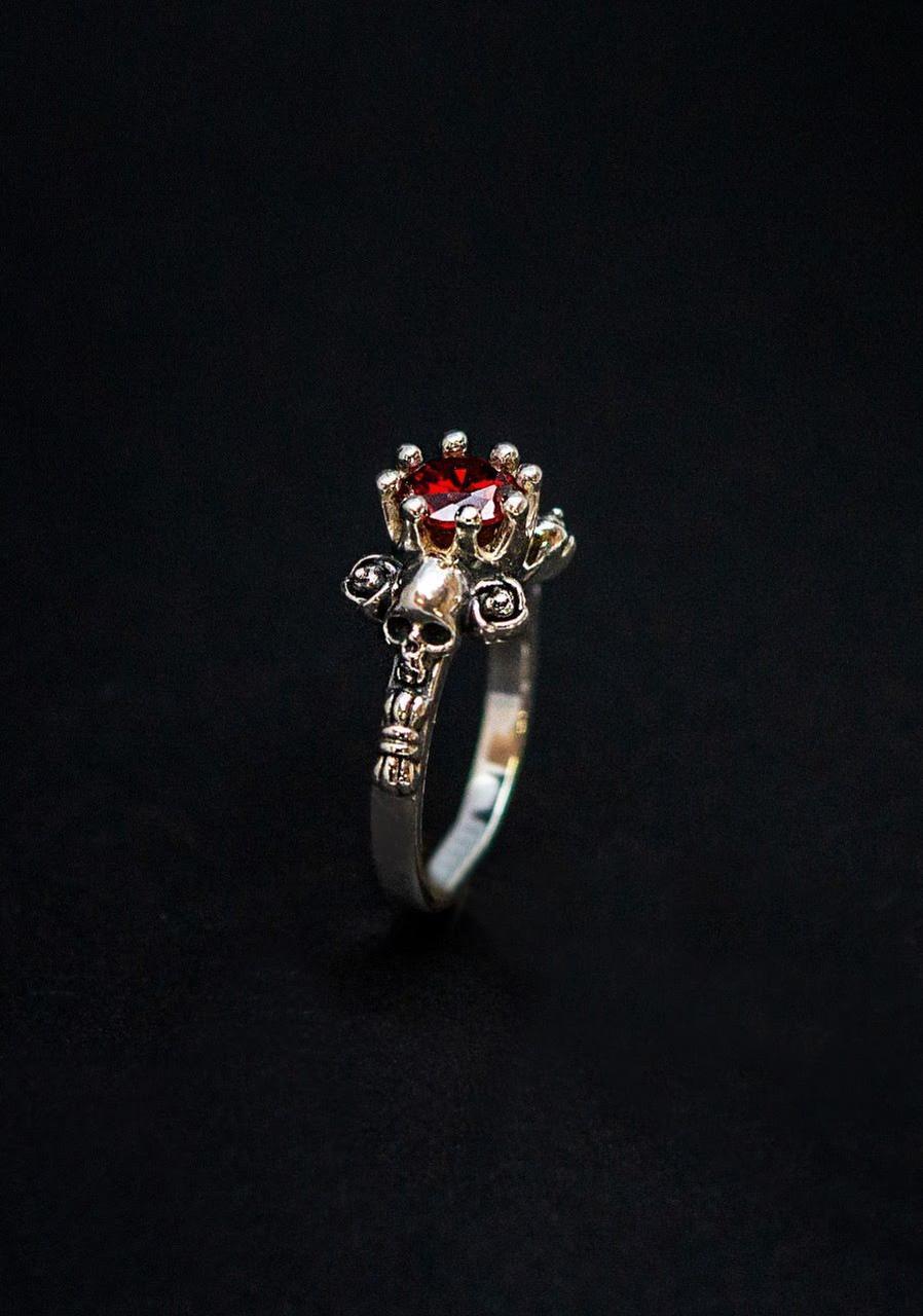 Восковки женское кольцо  Череп КЦ-03 Б