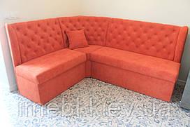 Кухонный угловой диван с ящиками (Оранжевый)