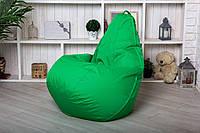 Зеленое Бескаркасное Кресло мешок пуфик 120x75 Oxford 600d