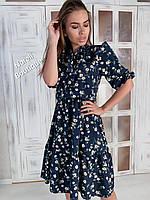 Летнее платье из принтованного софта Лайма, фото 1