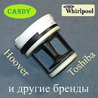 """Фильтр сливного насоса """"41021233"""" для стиральной машины Candy, Whirlpool и т.д."""
