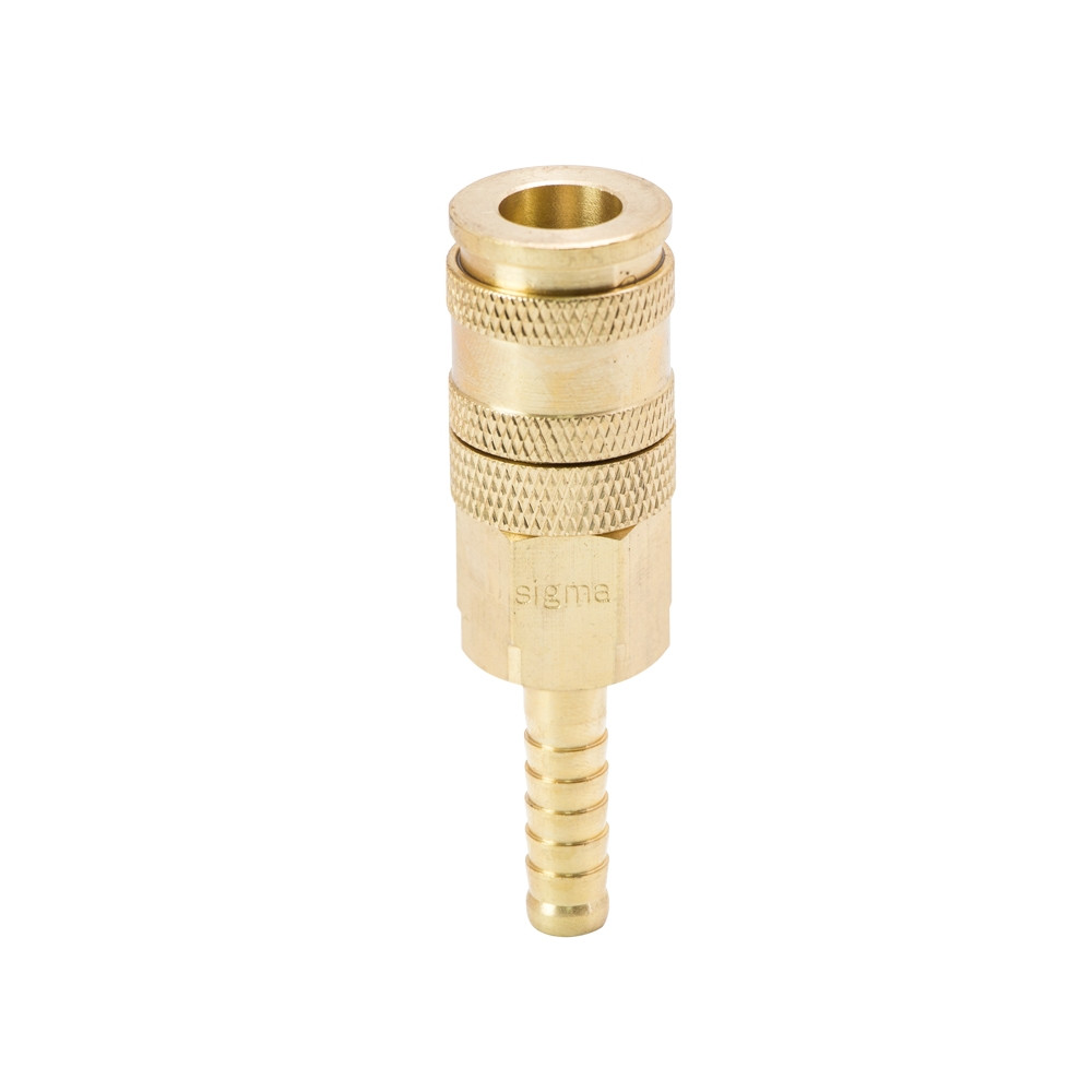 Соединение быстросъемное усиленное с фиксатором для шланга 8мм (латунь) Sigma (7021681)