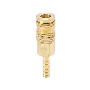 Соединение быстросъемное усиленное с фиксатором для шланга 8мм (латунь) Sigma (7021681), фото 2