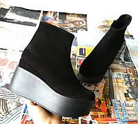 Ботинки женские на платформе из натуральной  кожи замши демисезонные Mary, фото 1