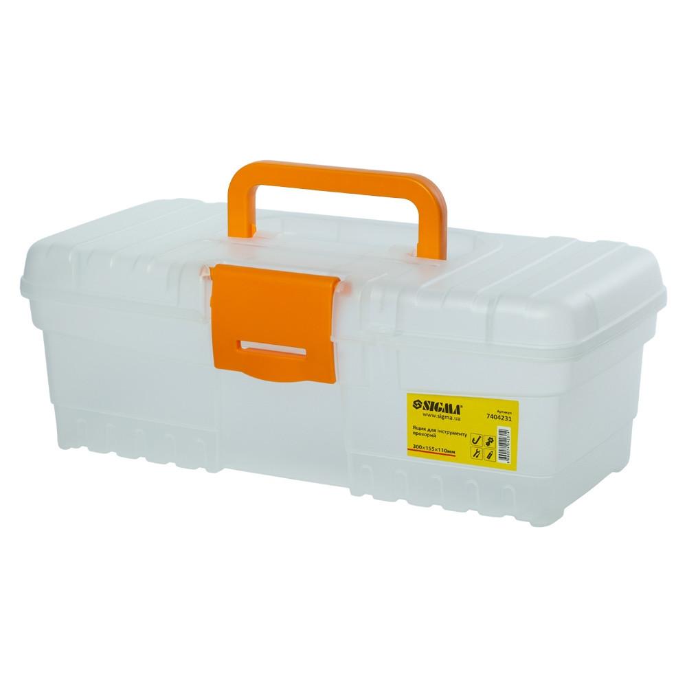 Ящик для инструмента (прозрачный) 300×155×110мм SIGMA (7404231)