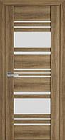 Дверь межкомнатная Ницца Бук Шато 700 мм со стеклом сатин (матовое), ПВХ Viva.
