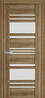 Дверь межкомнатная Ницца Бук Шато 900 мм со стеклом сатин (матовое), ПВХ Viva.