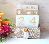 Деревянный вечный календарь «Из года в год», фото 1