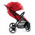 Дитяча прогулянкова коляска Babyzz B100 (червоний колір) + безкоштовна доставка, фото 3