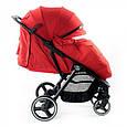 Дитяча прогулянкова коляска Babyzz B100 (червоний колір) + безкоштовна доставка, фото 5