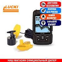 Эхолот Lucky FF718Li. Проводной/Беспроводной. 1-о луч. Обзор 45°/90°. Локация 100м. Ч/Б. (Эхолот Лаки ФФ718);