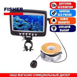 Подводная видеокамера Fisher CR110-7HB. Проводная (15м). Обзор 120°. Локация 5м. Цвет. (Видеоудочка Фишер