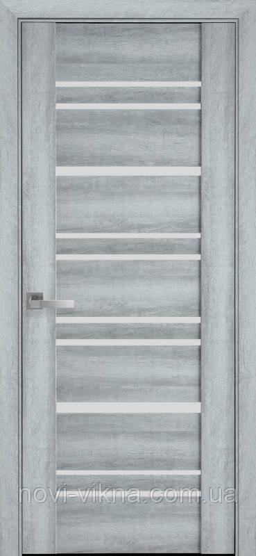 Дверь межкомнатная Валенсия Бук Кашемир 700 мм со стеклом сатин (матовое), ПВХ Viva.