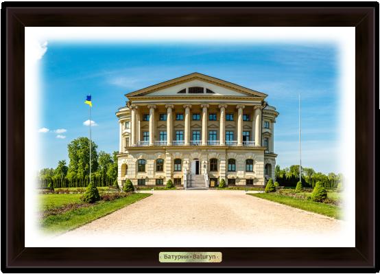 """Еко-картина Батурин. """"Палац Розумовського"""""""