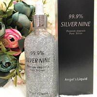 Angels Liquid Silver Nine Premium Ampoule - сыворотка с серебром от морщин, фото 1