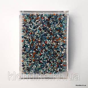 Бисер Китай 50 гр (10/0), Некалиброванный, Цвет: Микс
