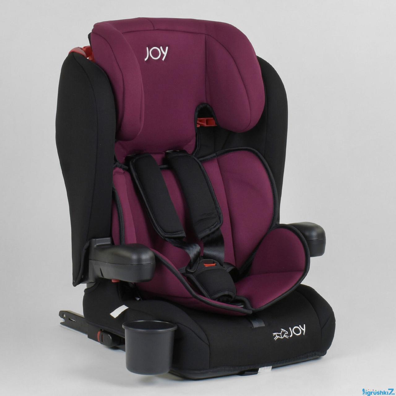 Автокресло детское Joy 73180 система ISOFIX черно-малиновое