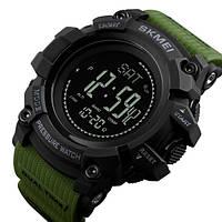 Часы мужские наручные спортивные Skmei Processor Green с шагомером и барометром