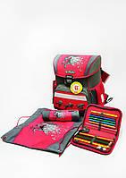 Школьный ранец Herlitz Power Horse с наполнением (пенал с 16 предметов,пенал-косметичку и мешок для обуви)