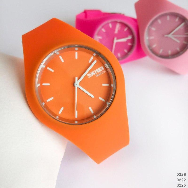 Часы Skmei (Сквей) Женские ОРИГИНАЛ Каучуковый ремешок \ Жіночі Часи Годинник  \ ГАРАНТИЯ