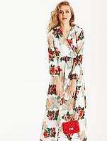 Платье с крупными цветами. Женская одежда. Весенняя коллекция