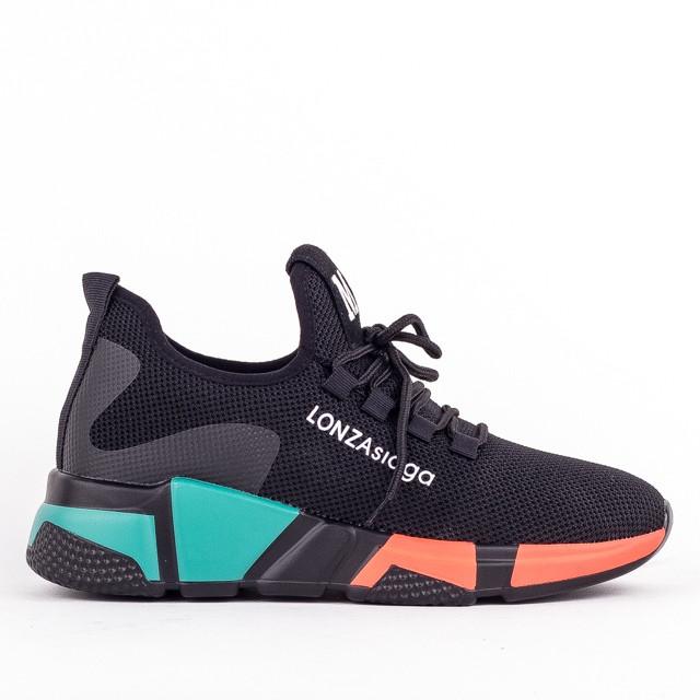Женские модные кроссовки Lonza YY3508 BLACK осень
