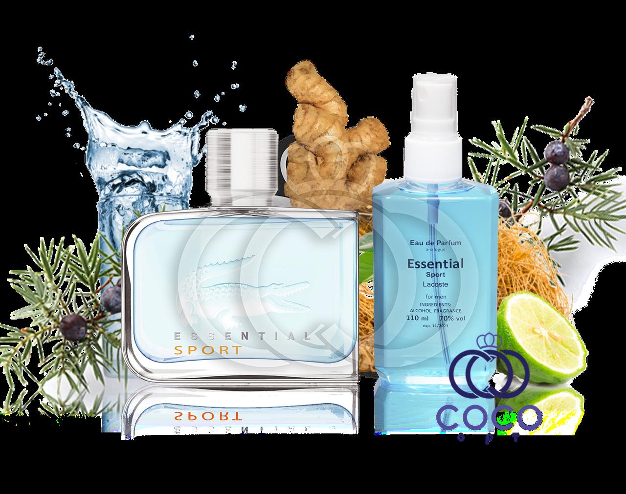 Мужская парфюмированная вода Lacoste Essential Sport 110 Ml ОАЭ в пластиковой бутылке