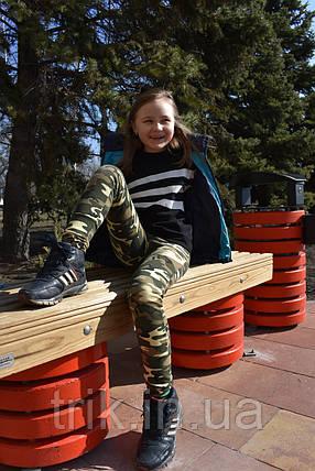 Штаны для девочки цвет камуфляжный, фото 2