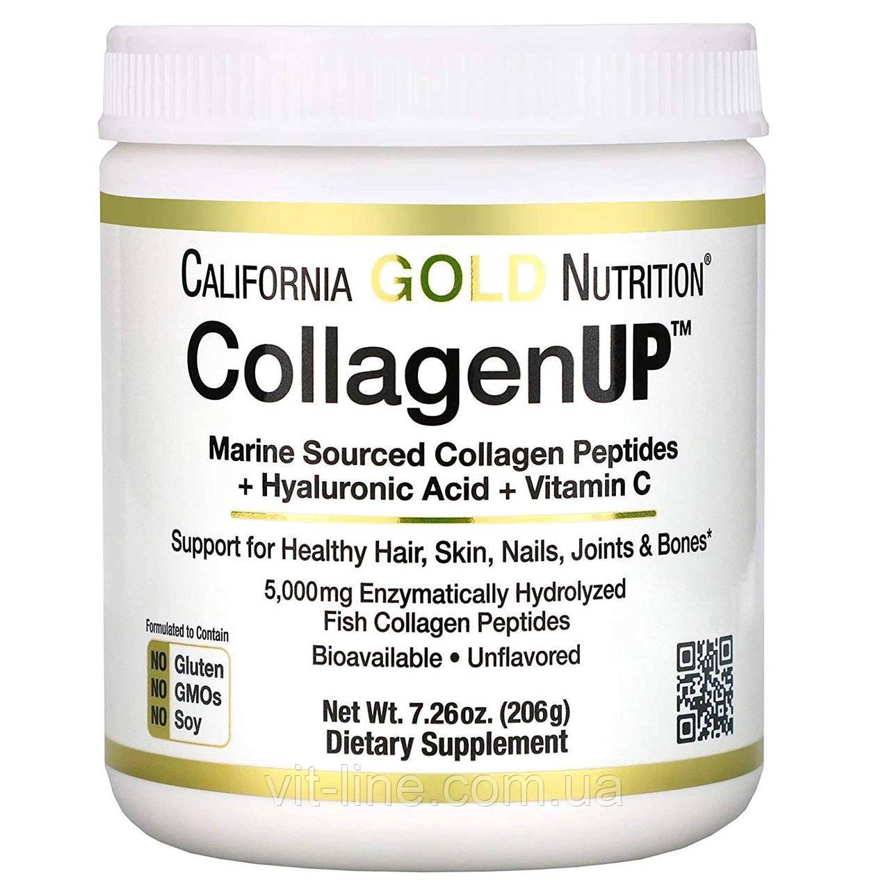 California Gold Nutrition  Морський колаген  206гр