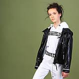 Курточка ветровка, черный, Моне, р.146, 152, фото 3