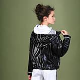 Курточка ветровка, черный, Моне, р.146, 152, фото 2