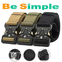 Тактический нейлоновый ремень Tactical Belt 145 см / Армейский ремень