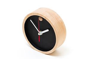 Настольные деревянные часы для декорирования интерьера HandMade Ручная Работа ТМ Просто и Легко 12х4 см